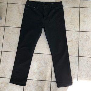 J. CREW Men's jet black jeans 34/30 Straight fit